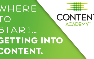 Where to start… Getting into Content