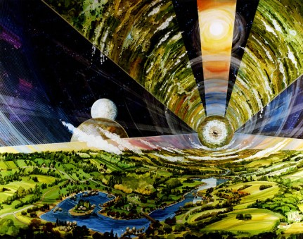 Life in a Doughnut-Shaped World: NASA Artwork From the 70's