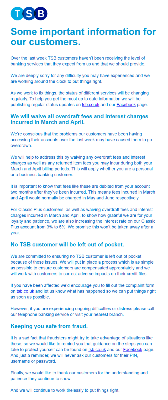 Open TSB's email from 2 May 2018 in your browser
