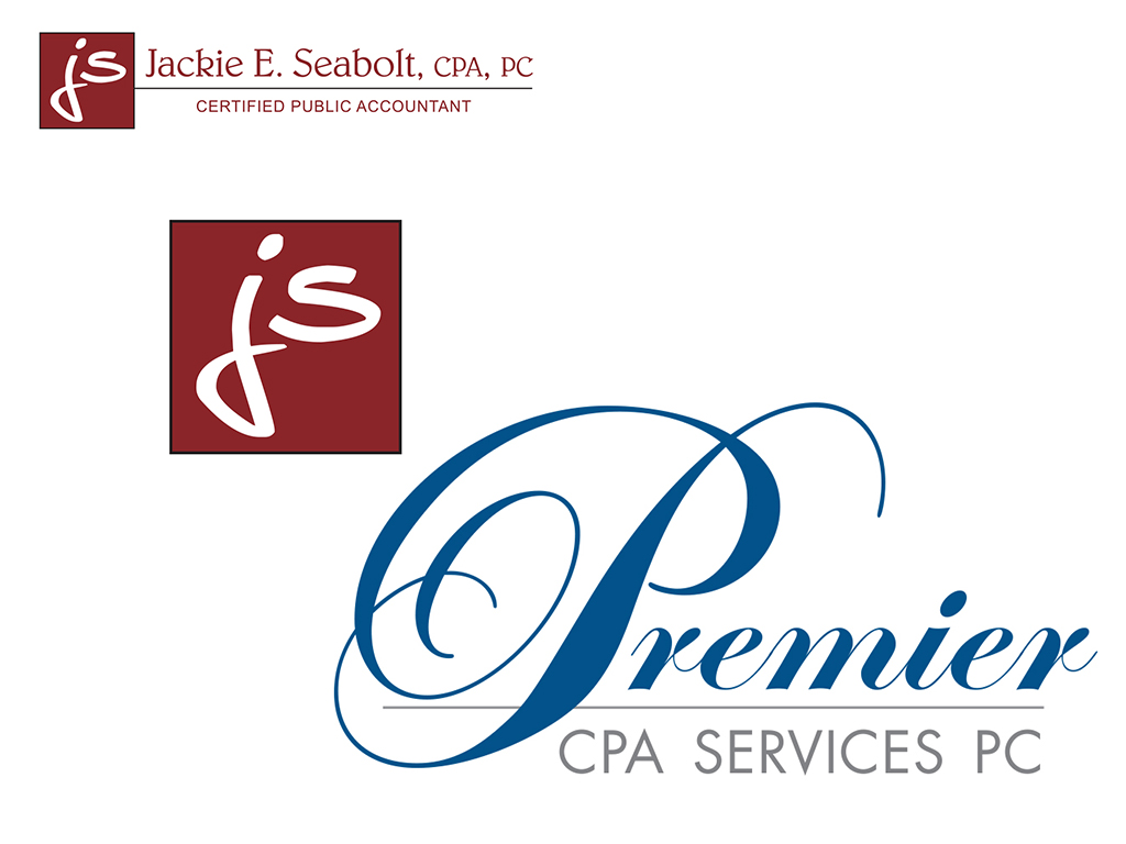 Jackie Seabolt & Premier CPA Services logos