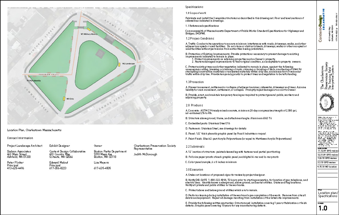Charlestown Training Field location plan