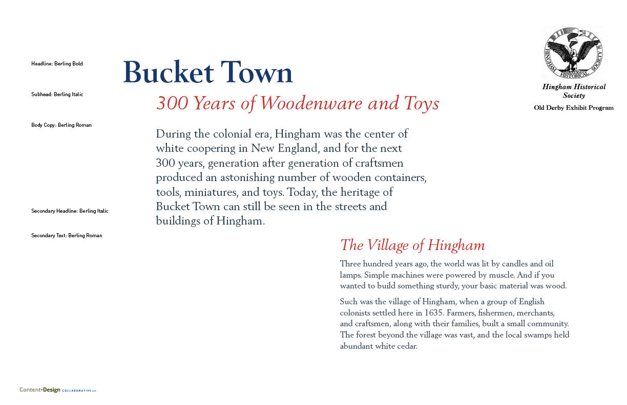 Hingham Historical Society - exhibit on boxes, buckets, and toys, how the craftsmen of Hingham shaped everyday life