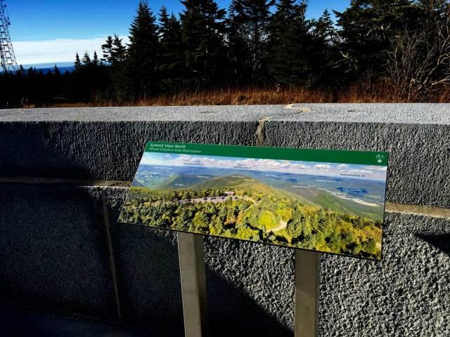 Greylock North View Wayside Panel
