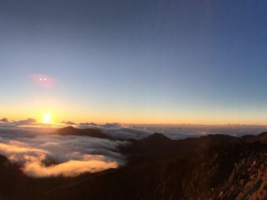 Pano of the sunrise from the Haleakala Summit.
