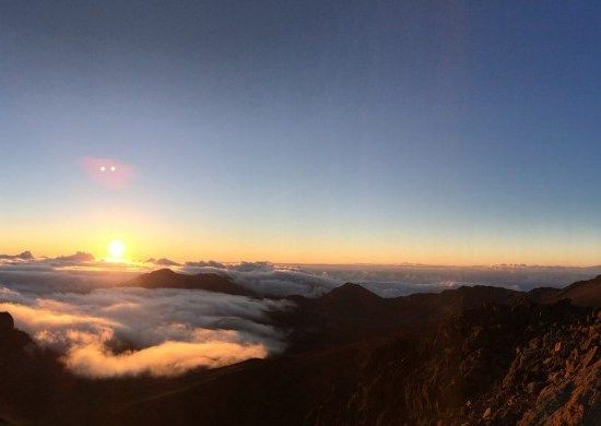 Pano of the sunrise from the Haleakala Summit.