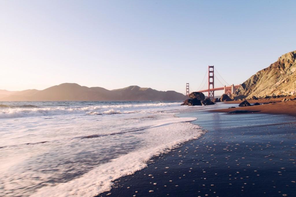View of Golden Gate Bridge from Beach