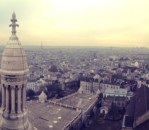 pano view of paris from the Sacré-Cœur