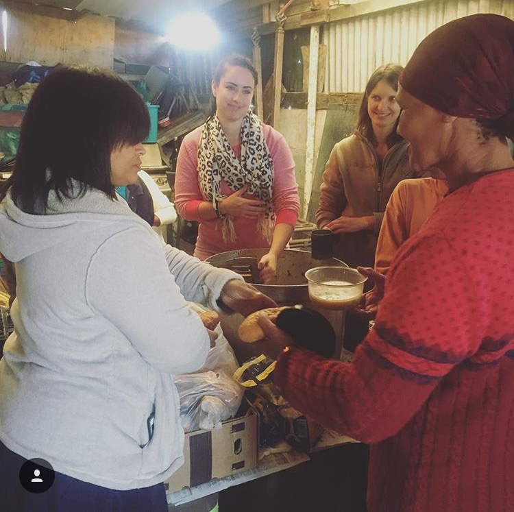 Contented Gypsy | Chelsey Serving Soup At The Lavender Hill Soup Kitchen