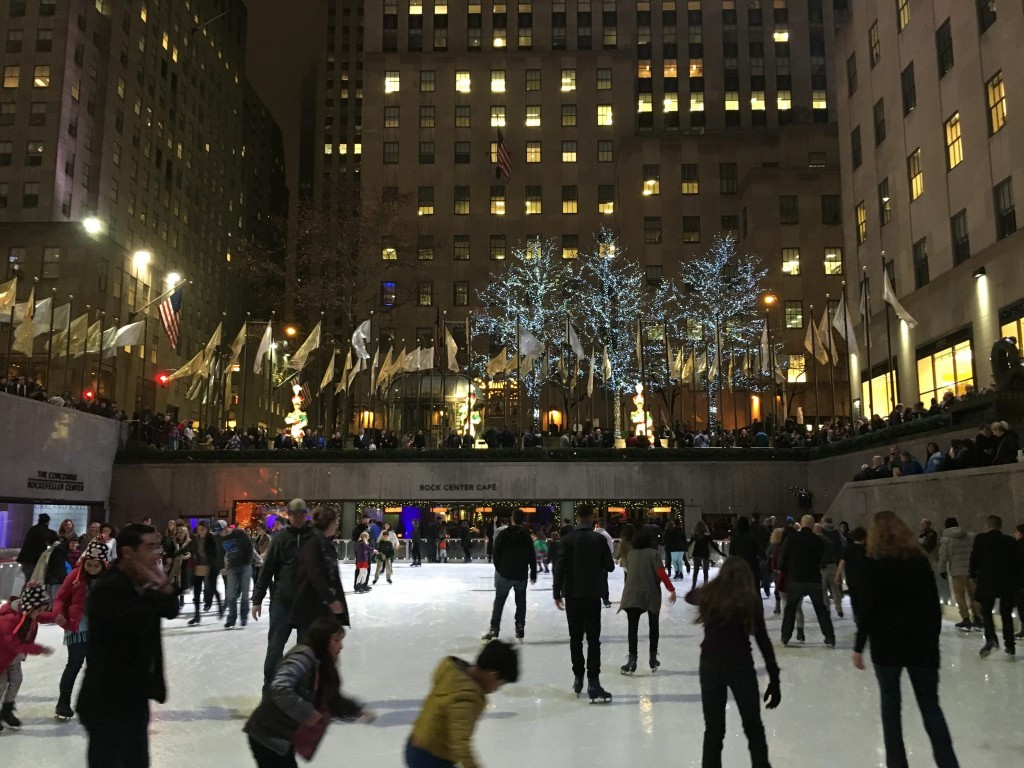 Contented Gypsy   Ice Skating Rockefeller Center
