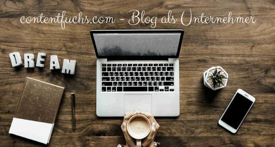 Blog als Unternehmer