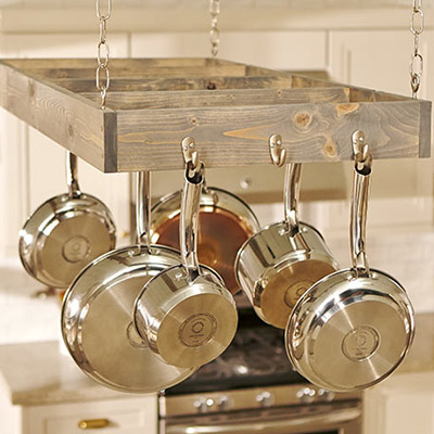 pot racks kitchen storage