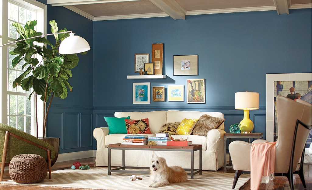Blue Living Room Ideas The Home Depot