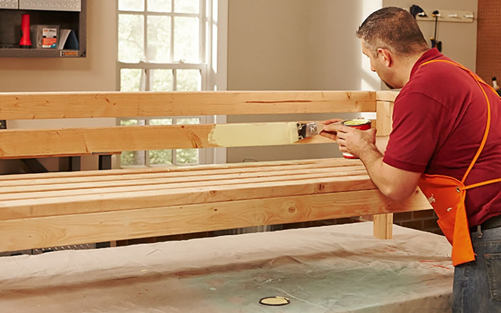 How To Build An Outdoor Sofa The Home Depot | Outdoor Wood Steps Home Depot | Treated Wood | Handrail | Spiral Staircase | Staircase | Concrete Steps