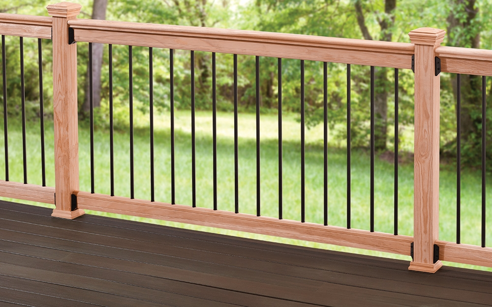 How To Estimate Deck Materials The Home Depot | Home Depot Deck Handrail | Stairs | Face Mount | Aluminum Balusters | Cable Railing Kit | Southern Yellow Pine