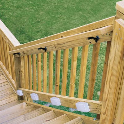 Deck Stair Railings Deck Railings The Home Depot | Wooden Handrails For Outside Steps | Staircase | Building | Wrought Iron | Concrete Steps | Deck