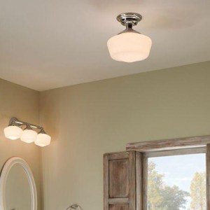 Bathroom Lighting at The Home Depot Semi flushmount Lighting