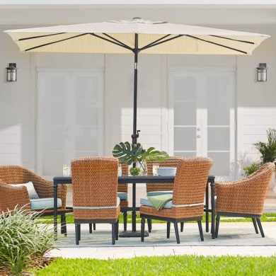 Patio Umbrellas   The Home Depot Rectangular Umbrellas