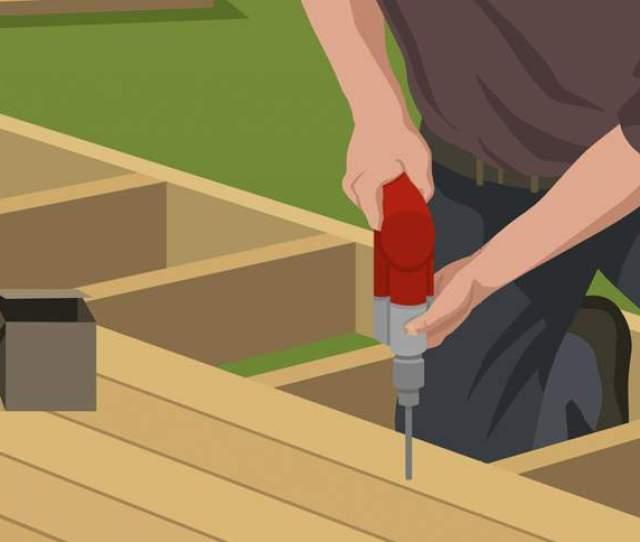 Add Fasteners Joists Build Ground Level Deck