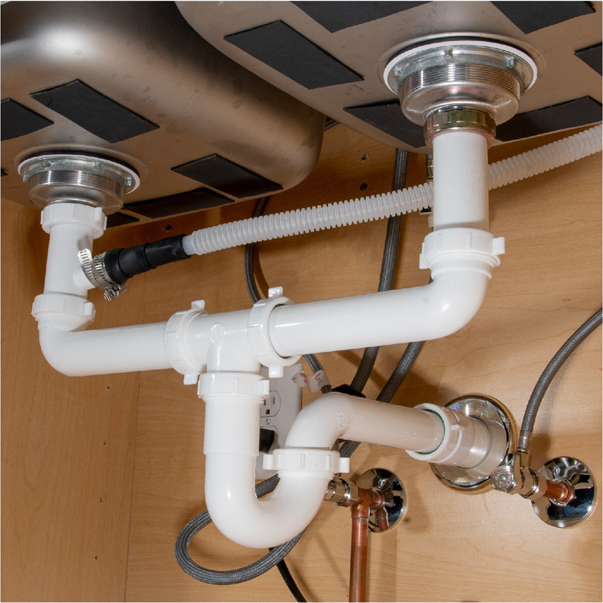 how to install offset drain pipes for