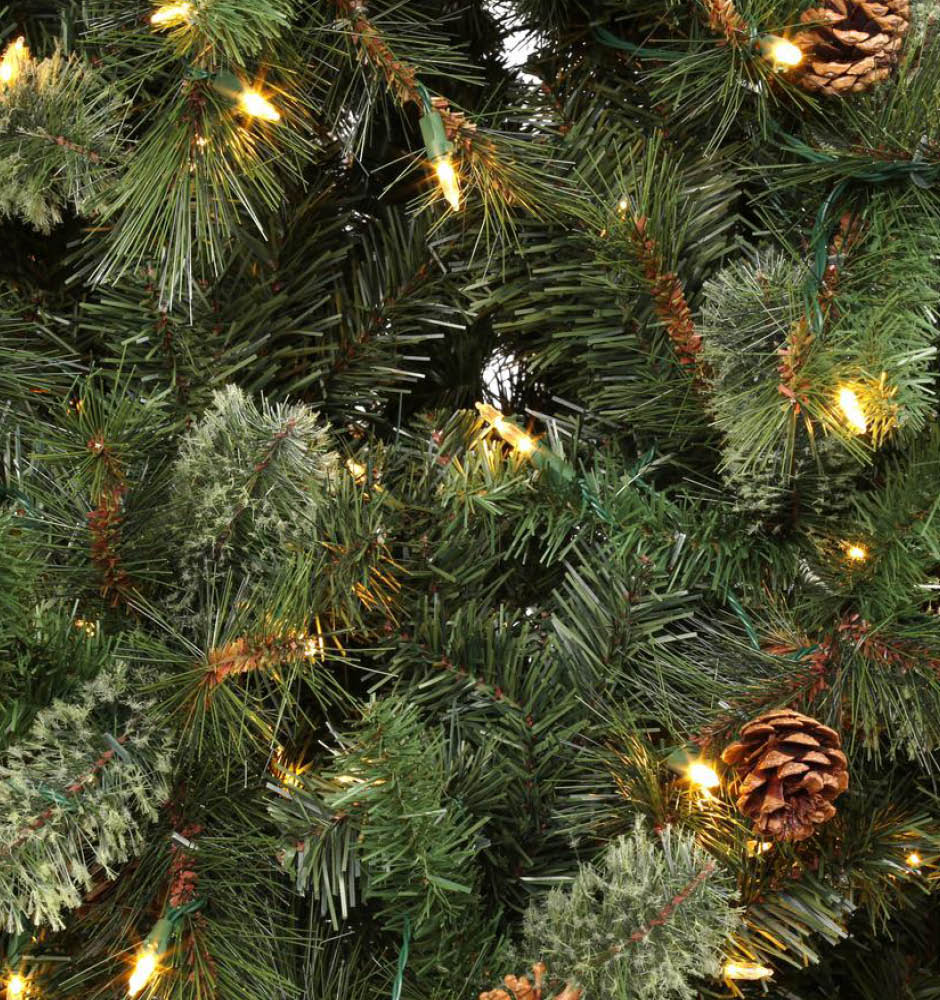 Martha Stewart Living 9 Ft Pre Lit LED Alexander Pine