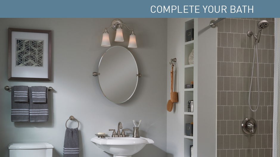 MOEN Banbury 23 In X 26 In Frameless Pivoting Single Wall Mirror In Chrome Y2692CH The Home