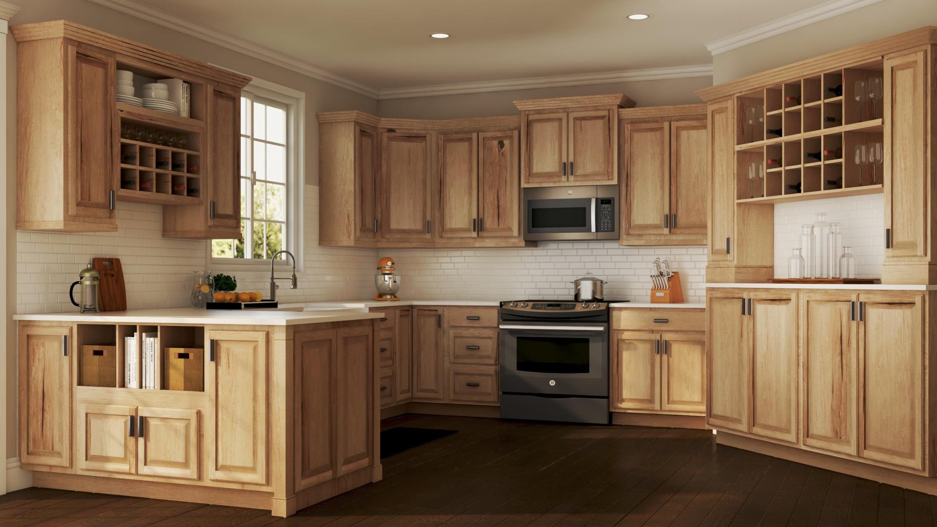 Hampton Bath Cabinets In Natural Hickory