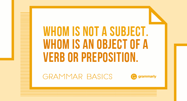 Whom is not a subject. Whom is a direct object of a verb.