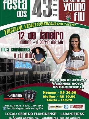 Fluminense Torcida Young Flu Cartaz Festa Sede do Clube Laranjeiras