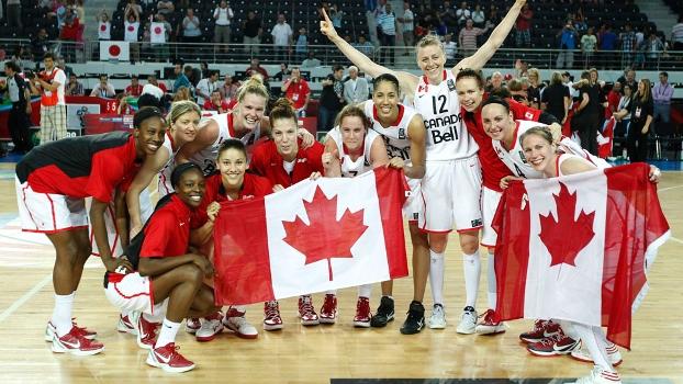 Canadá comemora vitória sobre Japão e ida à Olimpíada de Londres n o basquete feminino