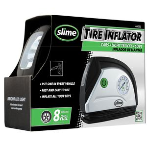 Slime 12 Volt Tire Inflator With Gauge And Light