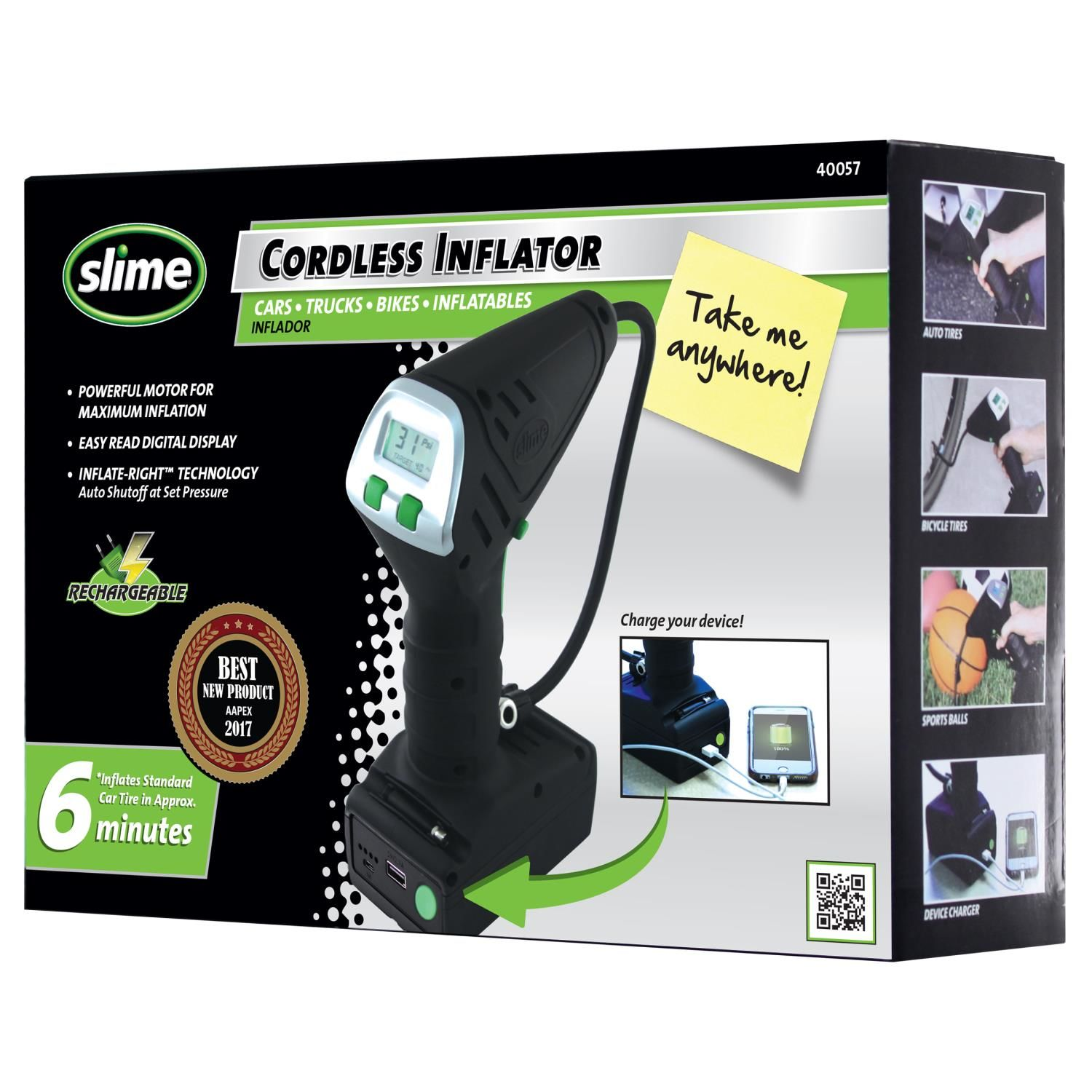 Slime Cordless Tire Inflator