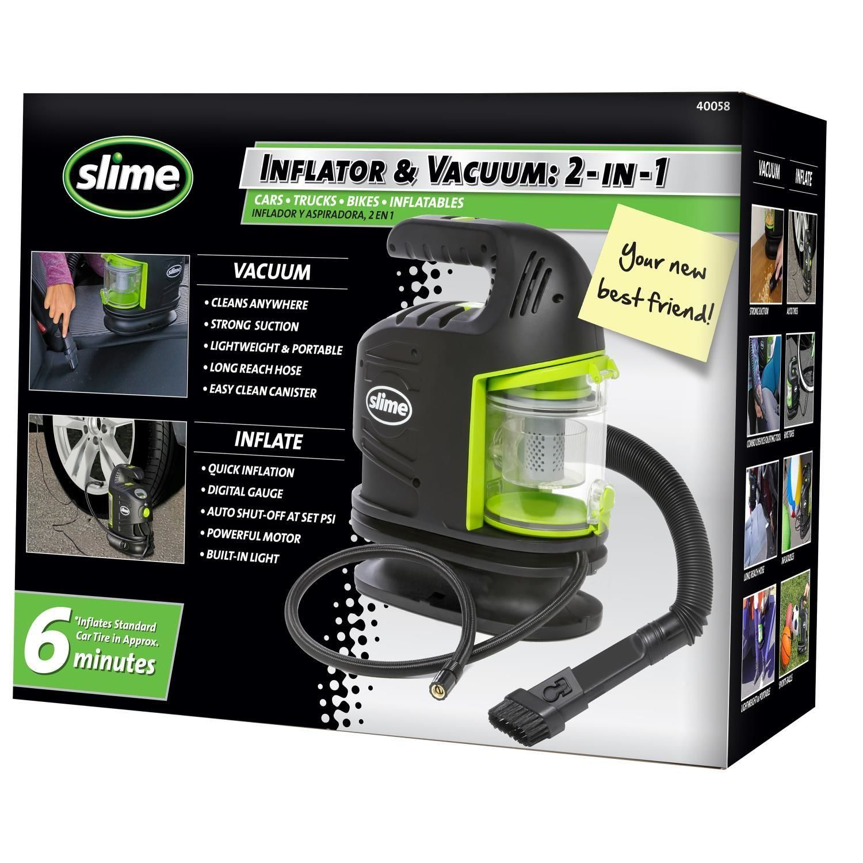 Slim 2 In 1 Tire Inflator And Vacuum