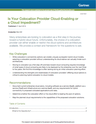 Is Your Colocation Provider Cloud-Enabling or a Cloud Impediment?