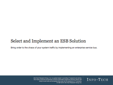 Select and Implement an ESB Solution