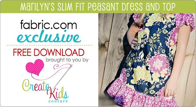 Free Pattern Download Marilyn's Slim Fit Peasant Dress & Top