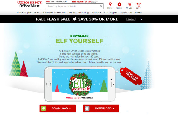 officemax-elf-yourself-website