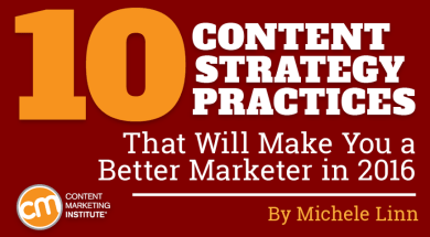 10 Content Strategy Practices
