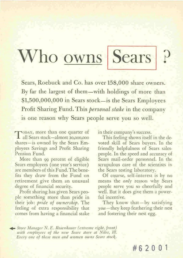 Rhetorical Questions - Sears example