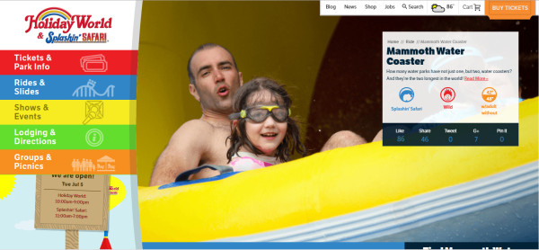holiday-world-splashin-safari-website-example
