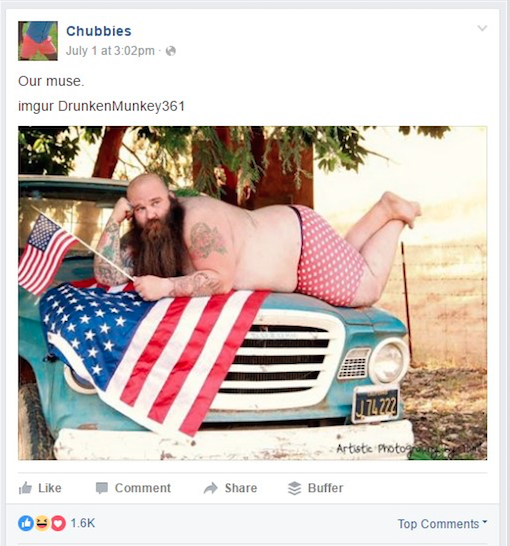 chubbies on facebook