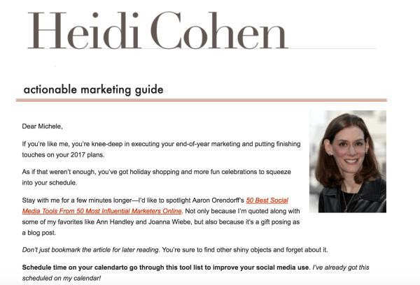 heidi-cohen-newsletter-example