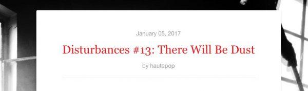 Disturbances-newsletter