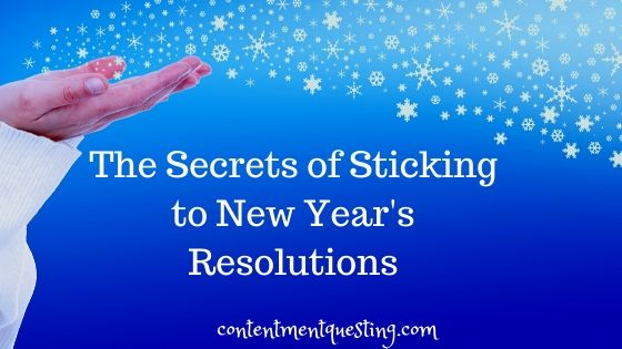 sticking to new years resolutions blog banner