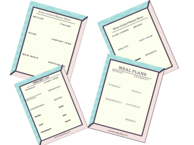 meal planning printable preview