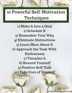 self motivation techniques, motivation, motivational, printable, motivational skills, inspiration