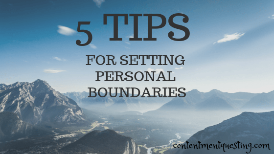 setting personal boundaries, boundaries, limits, emotional boundaries, mental health, contentment questing