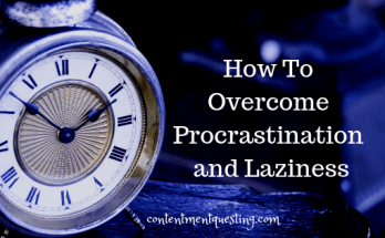 How to Overcome Procrastination and Laziness blog title pic