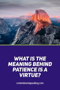 Patience is a Virtue. What is the Meaning Behind the Saying and How Can It Help You? Pin 1