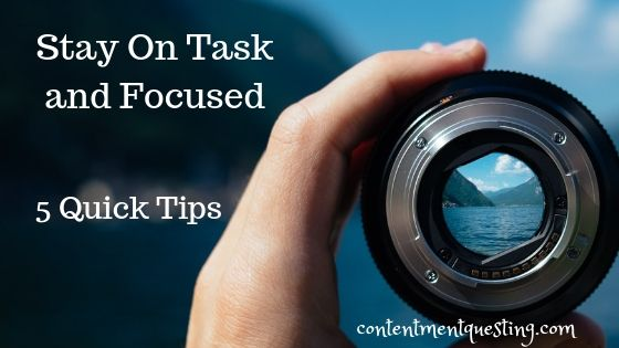 stay on task and focused blog banner