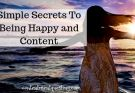 Simple Secrets to Being Happy and Content Blog Title